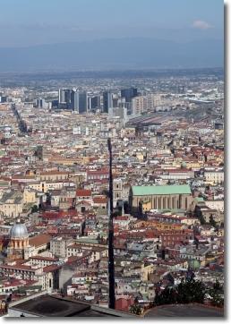 vista aerea della città di Napoli