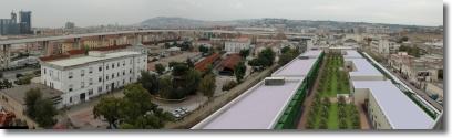 immagine in computer grafica di un progetto di riqualificazione urbana