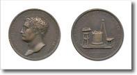 medaglia raffigurante Gian Lorenzo Bernini e insieme di attrezzi per belle arti