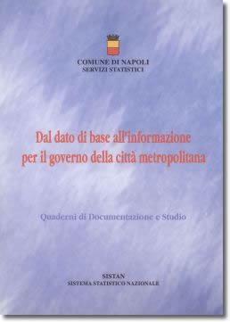 """copertina del volume: """"dal dato di base all'informazione per il governo della città metropolitana"""""""