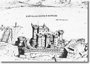 antica stampa raffigurante il castello