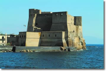 ancient castle encircled from the sea