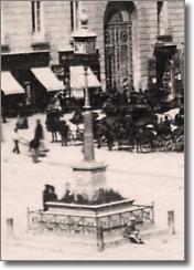 antica fotografia dell'orologio di città