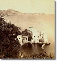 antica fotografia di villa sulla costa di Posillipo