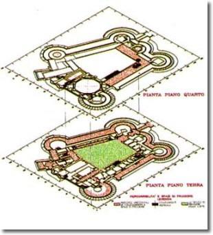disegno di sezioni del castello