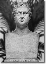 busto in marmo raffigurante Carlo Troya