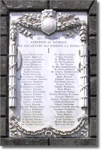 la lapide marmorea che si trova a sinistra del portone di palazzo San Giacomo