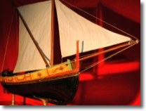 duplicate on scale of a sailing ship