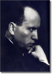 Immagine di Benito Mussolini nel millenovecentoventiquattro