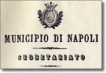 particolare di carta intestata con stemma civico, anno milleottocentosessantadue