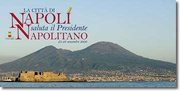 manifesto realizzato in occasione della visita in città del Presidente della Repubblica Giorgio Napolitano