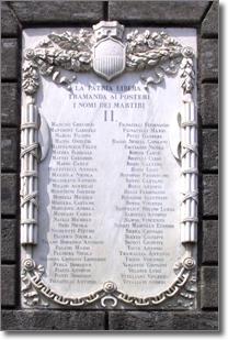 la lapide marmorea che si trova a destra del portone di palazzo San Giacomo
