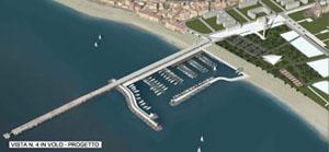 il progetto del porto dall'alto