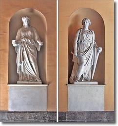 statue allegoriche femminili