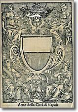 antica incisione raffigurante lo stemma civico