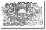 particolare di antico documento con stemma