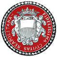 antico marchio con corona su fondo rosso
