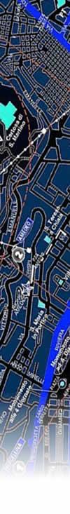 stralcio da una mappa topografica della città