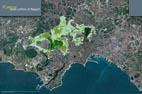 ripresa satellitare di tutto il parco delle colline