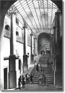 antica stampa raffigurante il passaggio coperto in palazzo San Giacomo