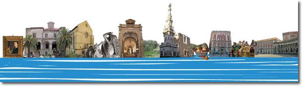 insieme di alcuni monumenti di napoli più rappresentativi