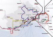 rete di trasporto su ferro