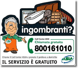 rifiuti ingombranti: numero verde 800161010