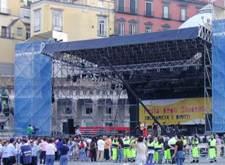 Volontari in P.zza del Plebiscito per manifestazione musicale