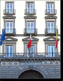 particolare della facciata di palazzo San Giacomo