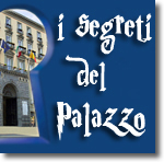 sight of San Giacomo Palace through a keyhole with the sentence: the secrets of the Palace