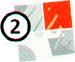 quadrato diviso in quattro parti di cui la seconda colorata