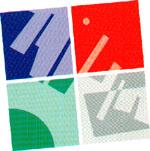 quadrato diviso in quattro parti raffiguranti le aree dei quattro concorsi
