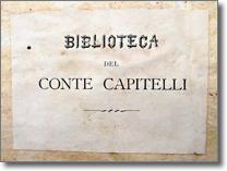etichetta della biblioteca del conte Guglielmo Capitelli