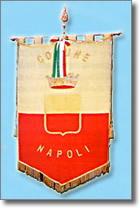 gonfalone del Comune di Napoli