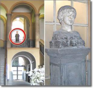 l'antico busto e la sua collocazione all'interno di palazzo San Giacomo