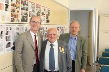 Roland Alikay, partigiano albanese con i partigiani Ettore Bonavolta e Piero Beldì