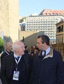 Il Presidente Pasquino e il Sindaco de Magistris a Castel dell'Ovo