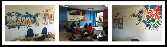 Collage di foto del centro giovanile