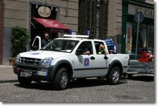 un automezzo della protezione civile comunale