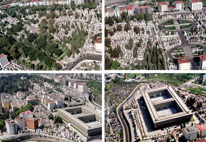 Alcune foto del cimitero di Poggioreale visto dall'alto