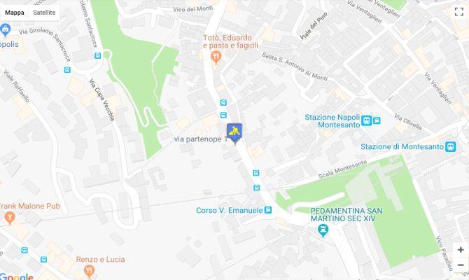 Mappa Google dell'area interessata dai lavori