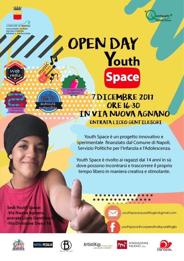 """Giovedì 7 dicembre 2017 presentazione del progetto """"Youth Space"""""""