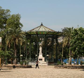 Una foto della Villa Comunale di Napoli