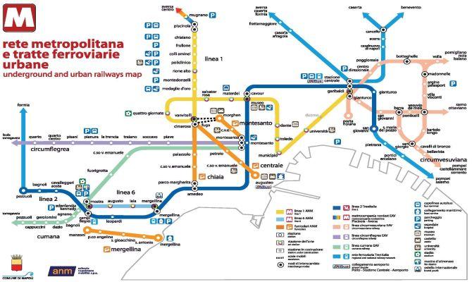 Stradario Campania Cartina.Comune Di Napoli Il Trasporto Pubblico A Napoli