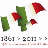 logo anniversario dei 150 anni dell'Unità d'Italia