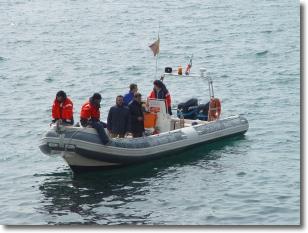 una imbarcazione del Servizio Risorsa Mare
