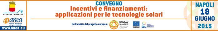 Convegno - Incentivi e finanziamenti: applicazioni per le tecnologie solari
