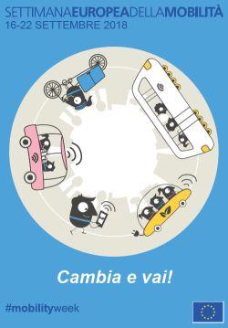Locandina della Settimana europea della Mobilità Sostenibile 2018