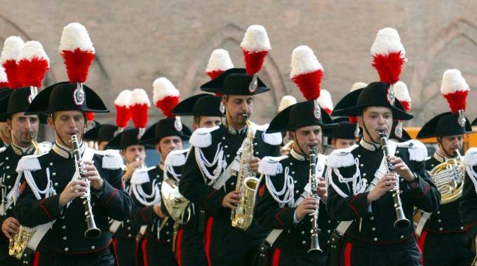 Concerto della Fanfara dei Carabinieri a Palazzo San Giacomo