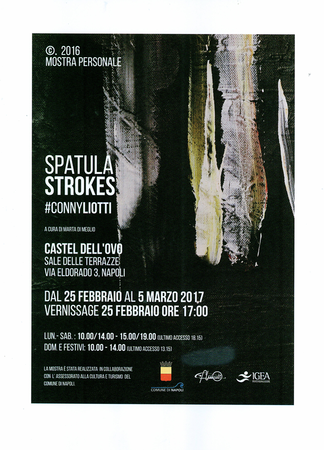 Castel dell'Ovo - Spatula Strokes un percorso tra pittura e istintività
